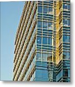 Modern Office Building Windows Metal Print