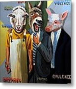 Modern People Or Human Involution Metal Print