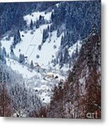 Moeciu Village In Winter Metal Print