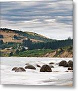 Moeraki Boulder East Coast Of South New Zealand   Metal Print