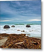 Moeraki Boulder East Coast Of South New Zealand Metal Print