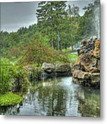 Mohonk Koi Pond On A Rainy Day Metal Print