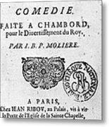 Moliere (1622-1773) Metal Print