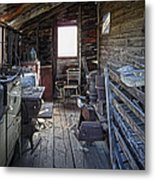 Molson Ghost Town Storage Shed Metal Print