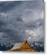 Molton Barn And Approaching Storm Metal Print