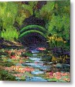 Momet's Water Lily Garden Toward Evening Metal Print