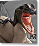 Mommy The Human Caught Me Metal Print