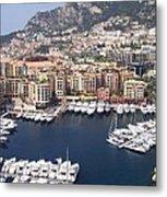 Monaco Harbour Metal Print