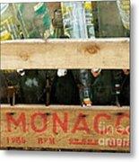 Monaco Wooden Crate Metal Print