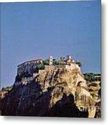 Monastery At Meteora Greece Metal Print