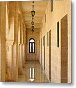 Monastery Passageway Metal Print