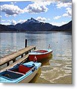 Mondsee Lake Boats Metal Print