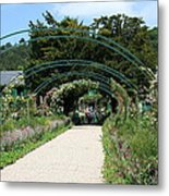 Monets Home And Garden Metal Print