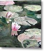 Monet's Lily Pads Metal Print