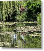Monets Lilypond - Giverny Metal Print