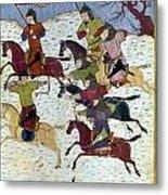 Mongol Battle, C1400 Metal Print