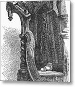 Monk Preaching Metal Print