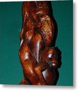Monkey Carving Metal Print