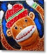 Monkey Sock Around Metal Print