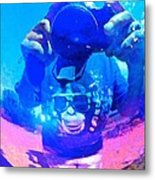 Monkeying Around With Camera Metal Print