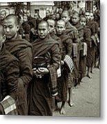 Monks In The Monastery Metal Print