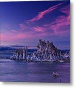 Mono Lake's Fiery Sky Metal Print