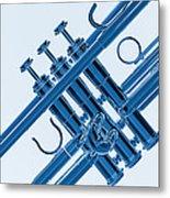 Monochrome Trumpet Metal Print