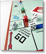 Monopoly Board Game Metal Print