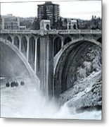 Monroe St Bridge 2 - Spokane Washington Metal Print
