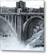 Monroe St Bridge 2 - Spokane Washington Metal Print by Daniel Hagerman
