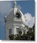 Monroeville Courthouse Clock Metal Print