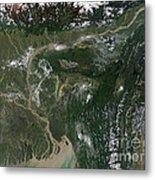 Monsoon Floods Metal Print