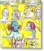 Monster Genealogy Metal Print by Jamie Jonas