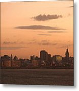Montevideo Skyline At Sunrise Metal Print