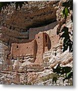 Montezuma Castle Cliff Dwellings In The Verde Valley Of Arizona Metal Print