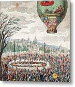 Montgolfier Balloon Le Flesselles Metal Print