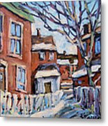 Montreal Scene 03 By Prankearts Metal Print