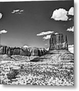 Monument Valley In Monochrome  Metal Print