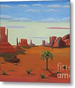 Monument Valley Lone Tree Metal Print