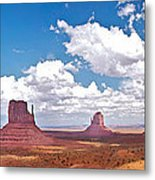 Monument Valley Pano Metal Print