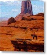 Monument Valley Pastel Metal Print