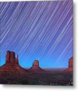 Monument Valley Star Trails  Metal Print