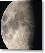 Moon Against The Black Sky Metal Print