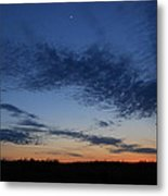 Moon And Clouds At Dusk Metal Print