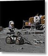 Moon Exploration, Artwork Metal Print