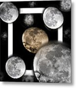 Moon From The Country Metal Print