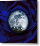 Moon Has Rose Metal Print