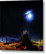 Moon Lite In Hdr Metal Print