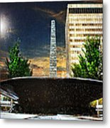 Moon Over Asheville Metal Print