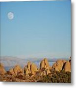 Moon Over Joshua Tree Metal Print
